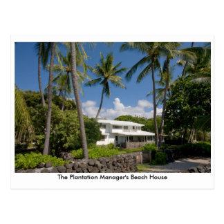 The Plantation Manager's Beach House Postcard