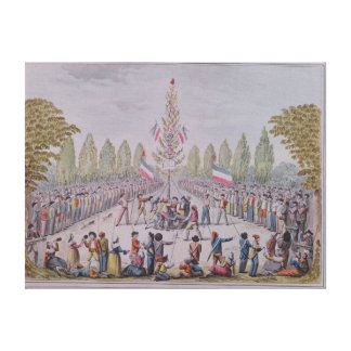 The Plantation of a Liberty Tree Canvas Print