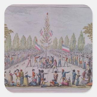 The Plantation of a Liberty Tree Square Sticker