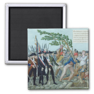 The Planting of a Tree of Liberty, c.1789 2 Inch Square Magnet