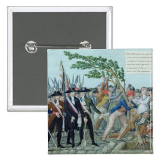 The Planting of a Tree of Liberty, c.1789 Button
