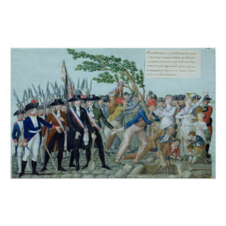 The Planting of a Tree of Liberty, c.1789 Poster