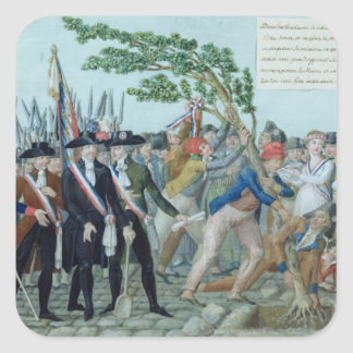The Planting of a Tree of Liberty, c.1789 Square Sticker