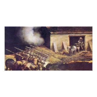 The Plaster Kiln By Géricault Jean Louis Théodore Photo Cards