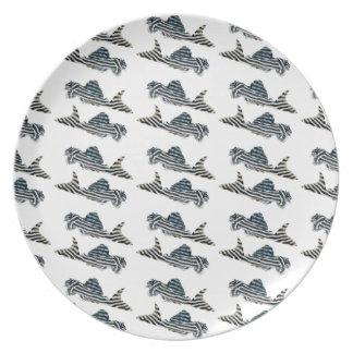 "The plate ""of Imperial Zebra Pleco"""