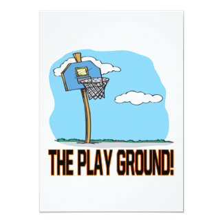 The Play Ground 5x7 Paper Invitation Card