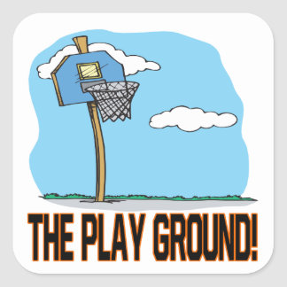 The Play Ground Square Sticker