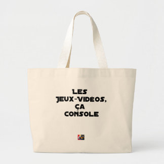 The Play-Videos, that Comforts - Word games Large Tote Bag