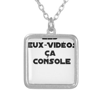 The Play-Videos, that Comforts - Word games Silver Plated Necklace
