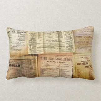 The Playbills Lumbar Pillow