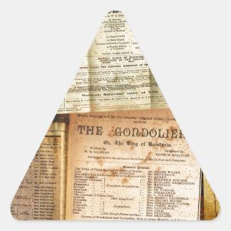 The Playbills Triangle Sticker
