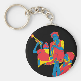 the players basic round button keychain