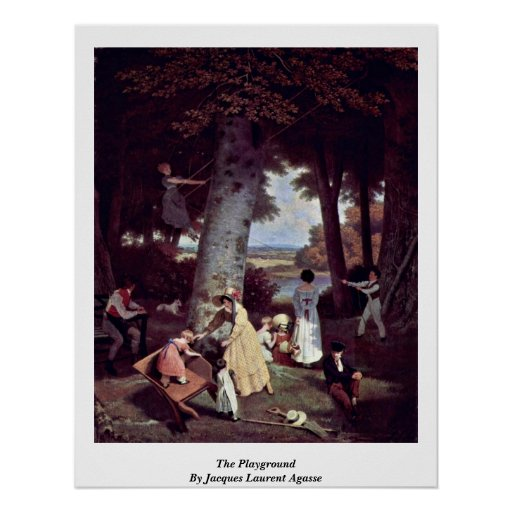 The Playground By Jacques Laurent Agasse Poster