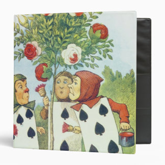 The Playing Cards Painting the Rose Bush Binder