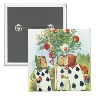 The Playing Cards Painting the Rose Bush Pins
