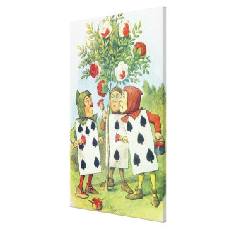 The Playing Cards Painting the Rose Bush Canvas Print