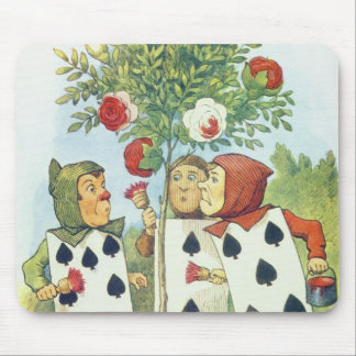 The Playing Cards Painting the Rose Bush Mouse Pad