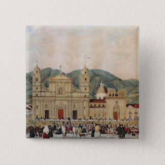 The Plaza de Bolivar, Bogota, 1837 Button