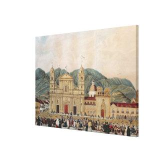 The Plaza de Bolivar, Bogota, 1837 Canvas Print