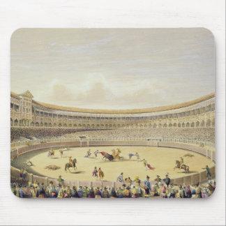 The Plaza de Toros of Madrid, 1865 (colour litho) Mouse Pads