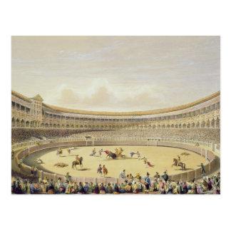 The Plaza de Toros of Madrid, 1865 (colour litho) Postcard