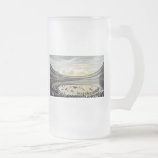 The Plaza de Toros of Madrid Frosted Glass Beer Mug