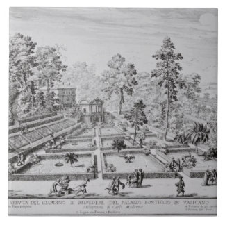 The pleasure garden and Pavilion of Pope Pius IV ( Tile