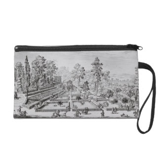 The pleasure garden and Pavilion of Pope Pius IV ( Wristlet Purse