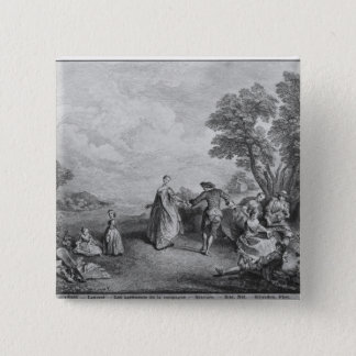 The pleasures of the countryside pinback button