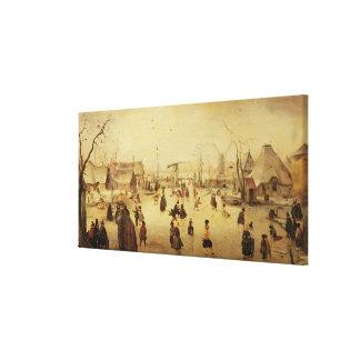 The Pleasures of Winter Canvas Print