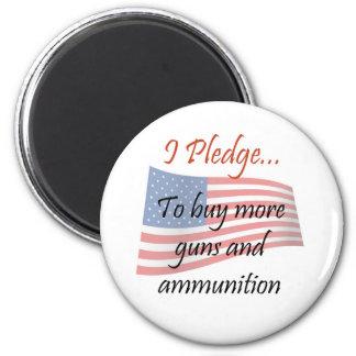 The Pledge - Guns 2 Inch Round Magnet