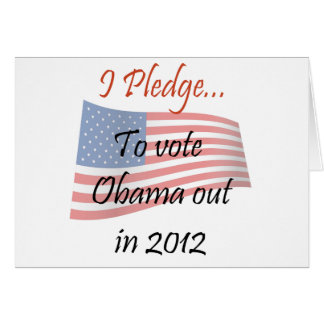 The Pledge - Obama Vote Card