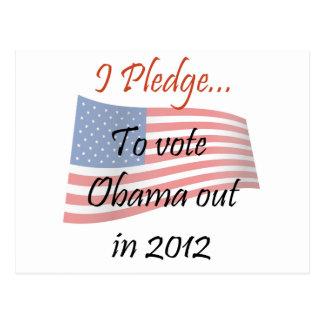 The Pledge - Obama Vote Postcard