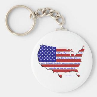 The Pledge of Allegiance Keychain