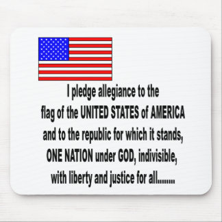 the pledge of allegiance mouse pad
