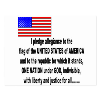 the pledge of allegiance postcard