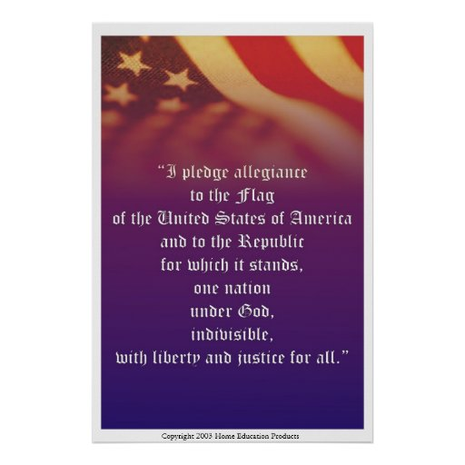 The Pledge of Allegiance Posters