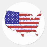 The Pledge of Allegiance Round Sticker