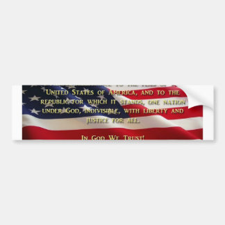 The Pledge Of ALLEGIENCE Bumper Sticker