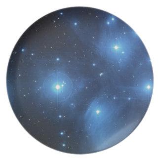 The Pleiades star cluster Dinner Plates