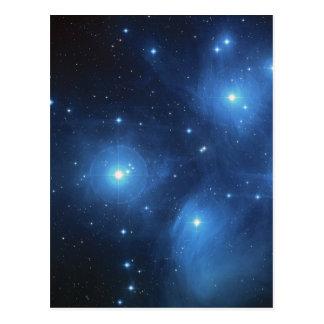 The Pleiades star cluster Postcard