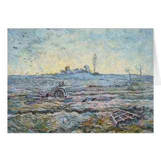The Plough and the Harrow by Vincent Van Gogh Card