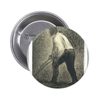 The Ploughman by Georges Seurat Button