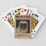 """The Plucky Pug Playing Cards<br><div class=""""desc"""">A large personality in a small body,  it&#39;s hard to believe that the pug is a toy breed. This affectionate lap dog can be considered a clown but with a face like this there&#39;s no doubt that the pug is adorable.</div>"""