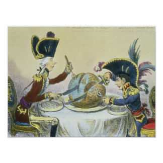 The Plum Pudding in Danger, 1805 Poster