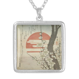 The Plum Tree and The Rising Sun Silver Plated Necklace