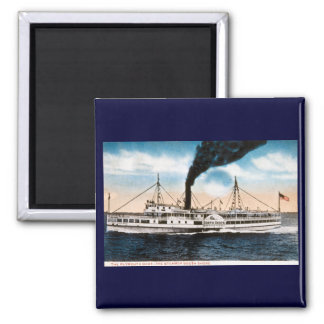 The Plymouth Boat - Steamer South Shore 2 Inch Square Magnet
