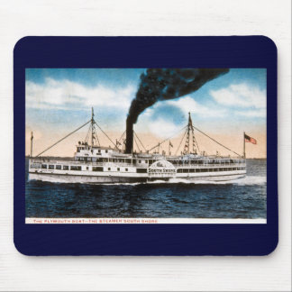 The Plymouth Boat - Steamer South Shore Mouse Pads