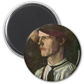 The Poacher Fragment By Leibl Wilhelm Fridge Magnets
