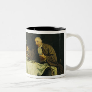 The Poet Alexis Piron  at the Table Two-Tone Coffee Mug